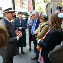 Photo of members of the Grolier club in a walk in May 2015